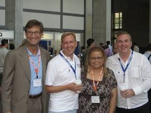 Photo: With Jim Neal, and Dallas Principles organizers and authors Ken Ahonen-Jover, Juan Ahonen-Jover, also the co-founders of eQualityGiving.org
