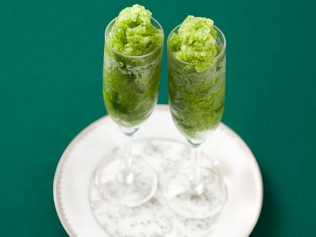 Green Apple and Basil Granita