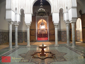 Photo: inside the mausoleum for Moulay Ismaïl
