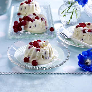 Frozen Souffles with Red Currant and Meringue.