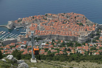 Photo: Old town of Dubrovnik and the cable car