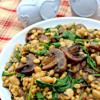 Barley, Spinach, and Mushrooms Recipe