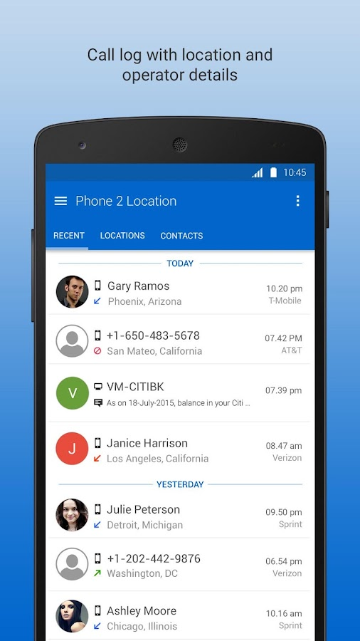Phone 2 Location - Caller ID Mobile Number Tracker- screenshot