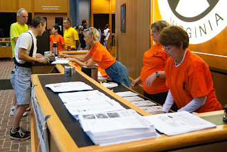 Photo: Registration on Saturday morning shifted to the Hanover County administration building