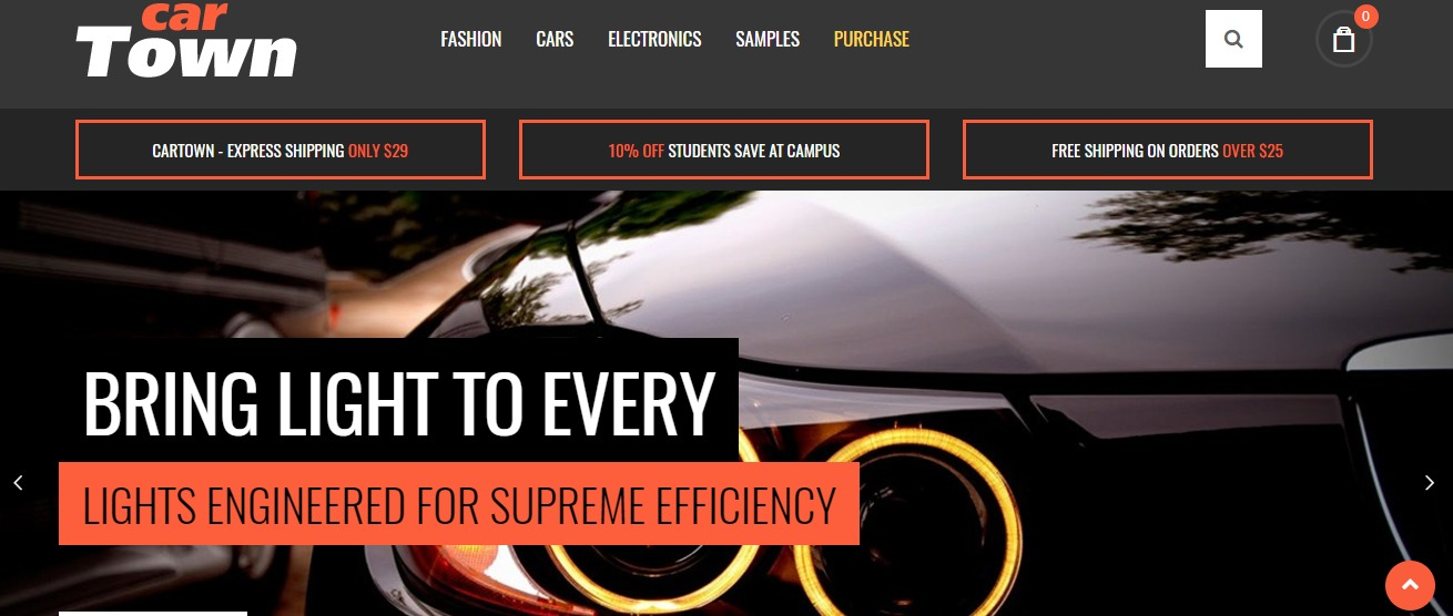 Accessories car magento theme Cartown