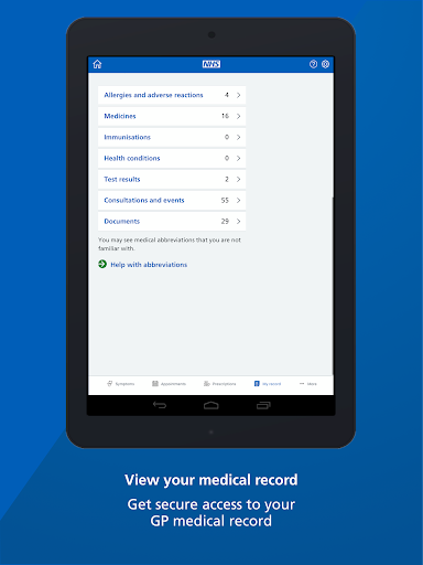 NHS App screenshot 17
