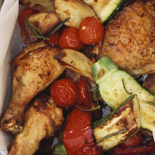 Mediterranean Chicken with Roasted Vegetables Recipe