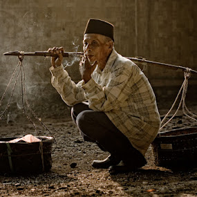 The Village Hawker by Perak Man - People Portraits of Men ( senior citizen )