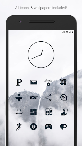 Flight Dark - Flat Icons (Free Version) Apk Download Free for PC, smart TV