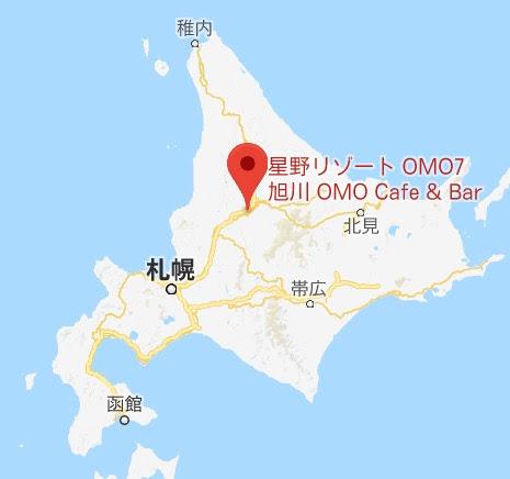 地図:OMOカフェ&バル