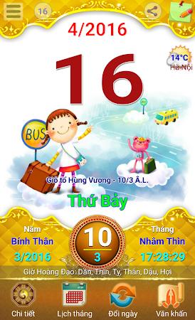Lich Van Nien - Lịch VN 2016 7.5 screenshot 334423