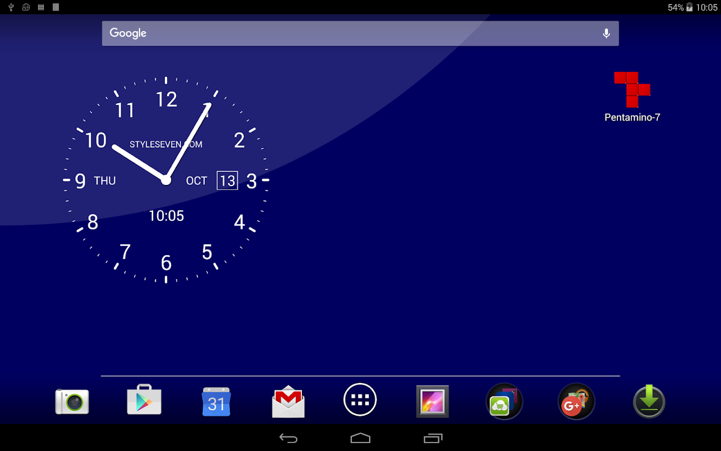Analog Clock Live Wallpaper 7 Apl Android Di Google Play