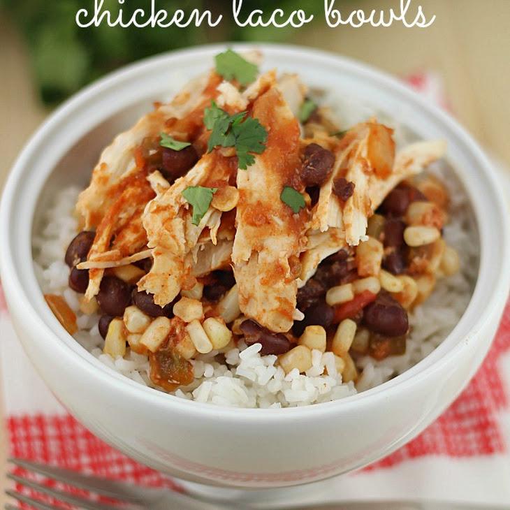 Easy Crock Pot Chicken Taco Bowls