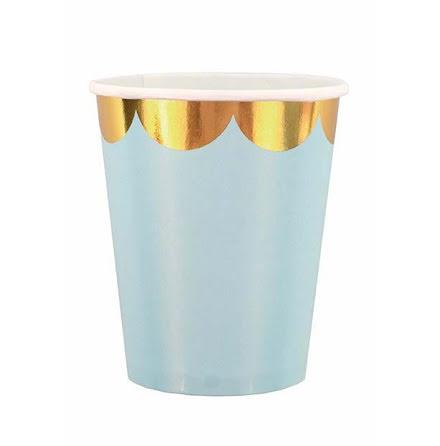 JaBaDaBaDo Mugg 8-pack, ljusblå/guld