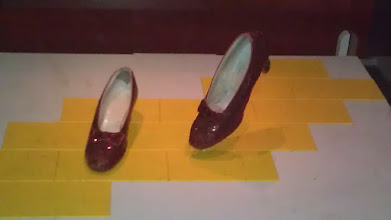 Photo: Dorothy's ruby slippers at the Smithsonian. The Smithsonian says that this is the most visited exhibit in all of the Smithsonian.