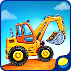 Truck games for kids - house building 🏡 car wash icon