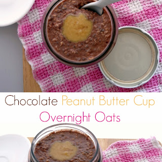 Chocolate Peanut Butter Cup Overnight Oats