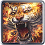 Flame Tiger Live Wallpaper APK icon