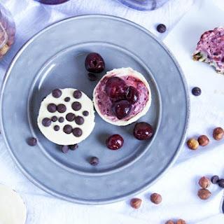 No-Bake Mini Cherry and Chocolate Chip Cheesecakes.