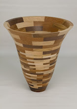 "Photo: Bob Grudberg 10"" x 11"" segmented vase [mix]"