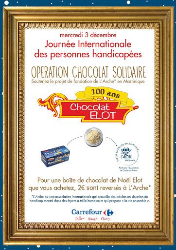 Opération choco solidaire avec ELOT pour le projet de L'Arche en Martinique