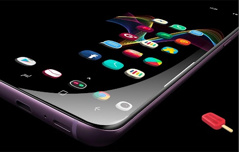 Popsicle 3D Pie icon pack HD Wallpaper pack Theme Screenshot