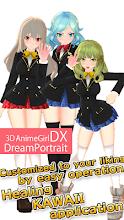 3DAnimeGirl DX DreamPortrait KAWAII Girl DressUp screenshot thumbnail