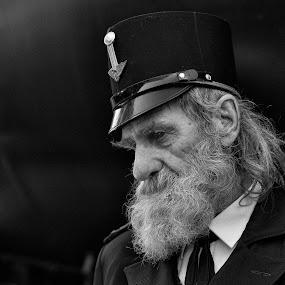 Railway man by Jani Novak - People Portraits of Men ( railway man )