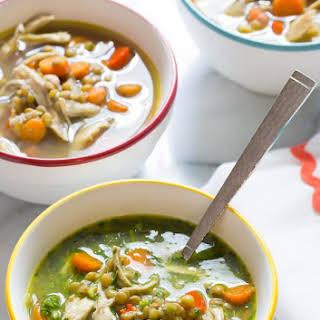 Chimichurri Chicken Lentil Soup.