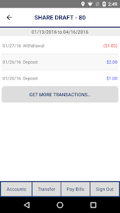 WCTFCU Mobile Banking- screenshot thumbnail