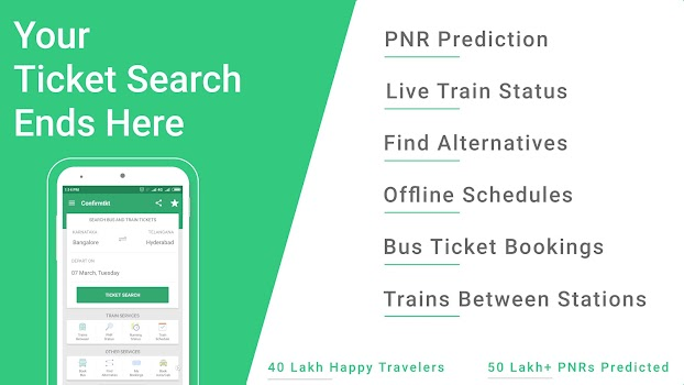 ConfirmTkt Indian Rail Train Status and PNR Status