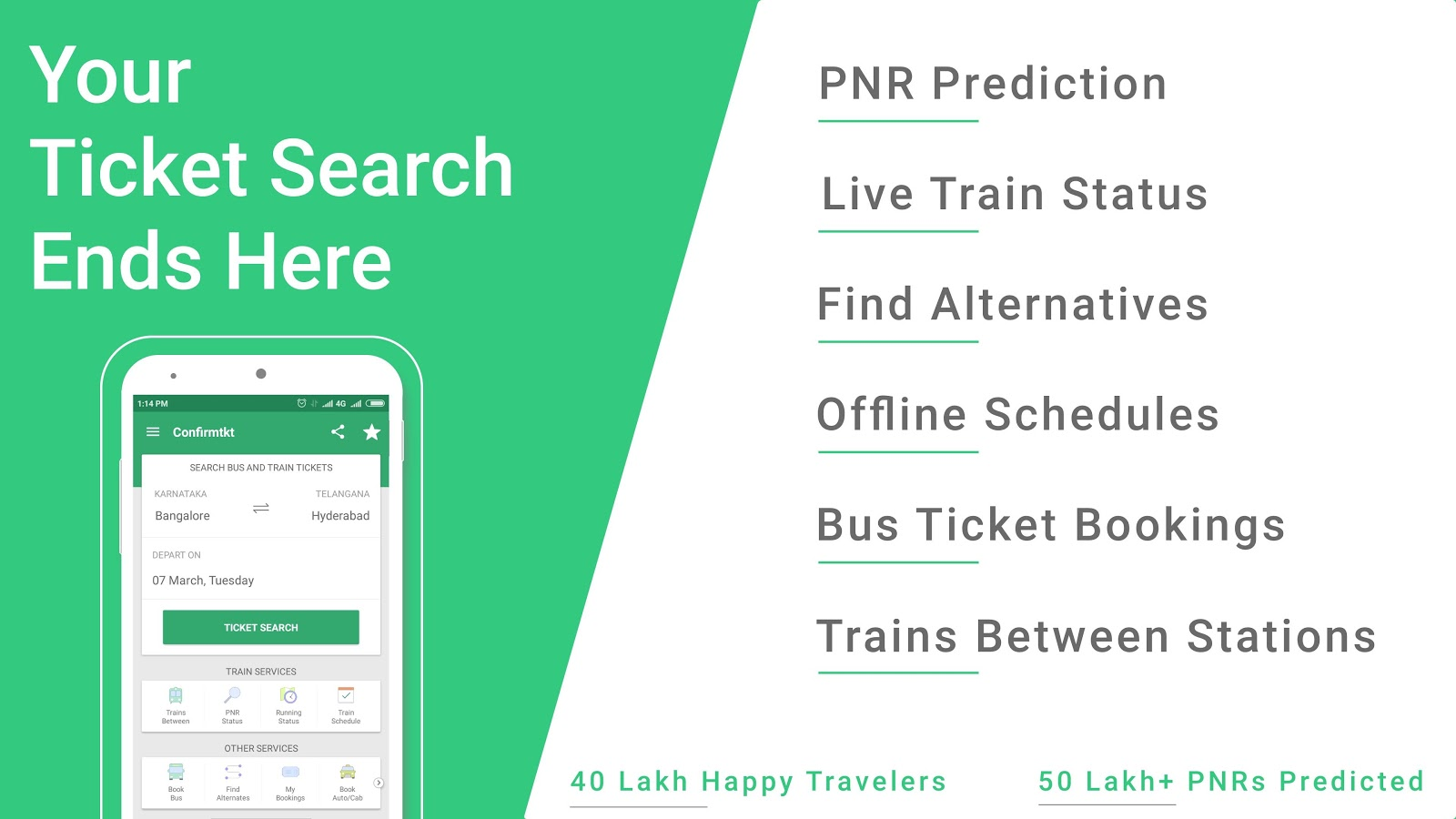 Indian Rail Train PNR Status- screenshot
