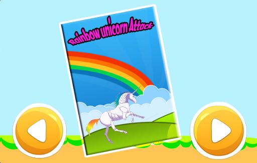 Rainbow unicorn attack