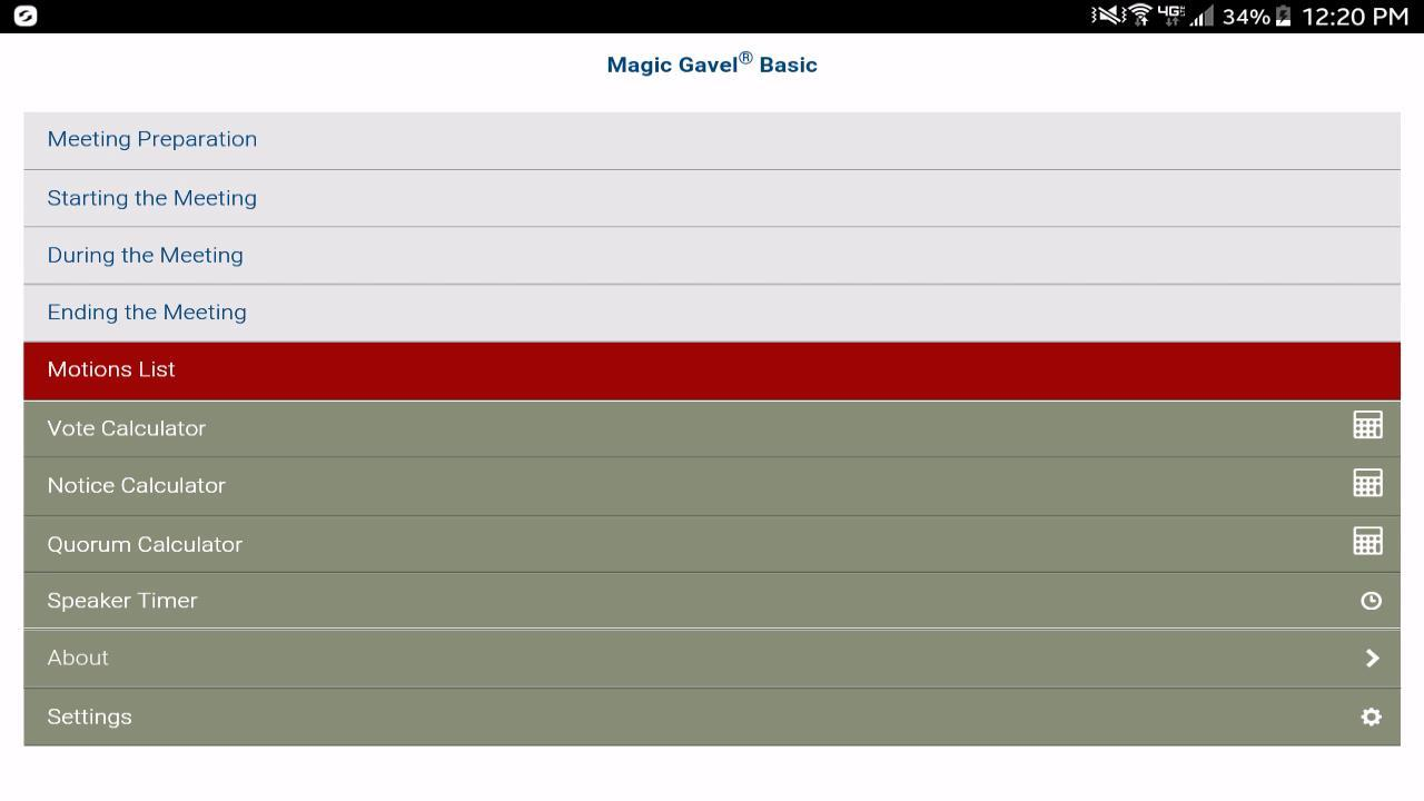 Magic Gavel® Basic- screenshot