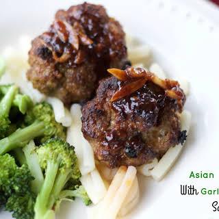 Asian Meatballs With Garlicky Hoisin Sauce.
