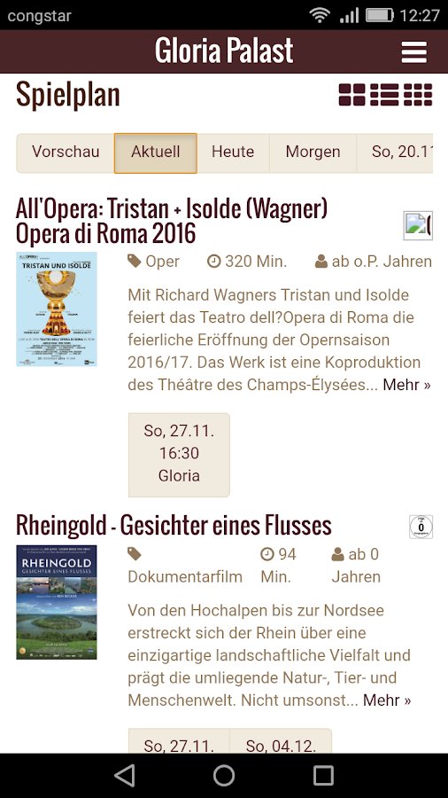 Gloria Palast München- screenshot