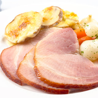 Baked Ham with Maple and Mustard Glaze