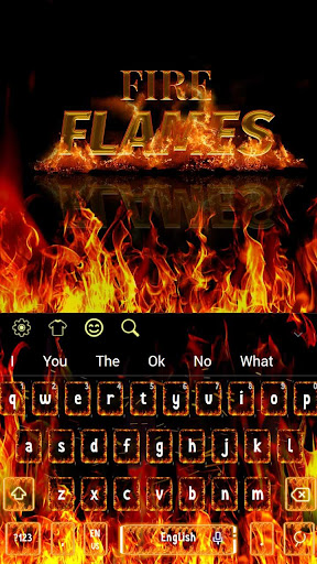 Fire Flames Keyboard 10001001 screenshots 4