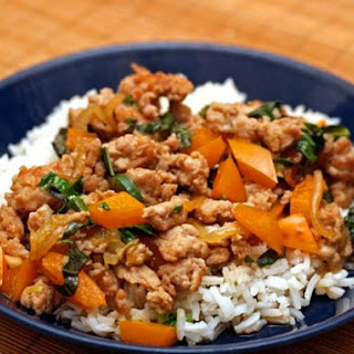 Thai-Style Minced Chicken with Basil and Chiles.