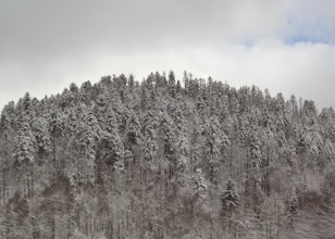 Photo: On our last full day in Croatia we drove from Opatija east to Zagreb.  A lot of snow had fallen the night before.