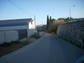 Photo: Baixada des de la cooperativa. Inici del Camí de Colata.