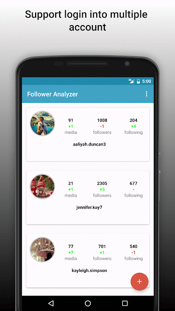 Follower Analyzer for Instagram Android App Screenshot