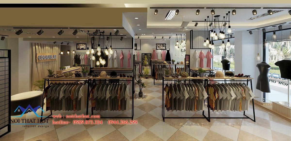 thiết kế shop thời trang cao cấp hài hòa