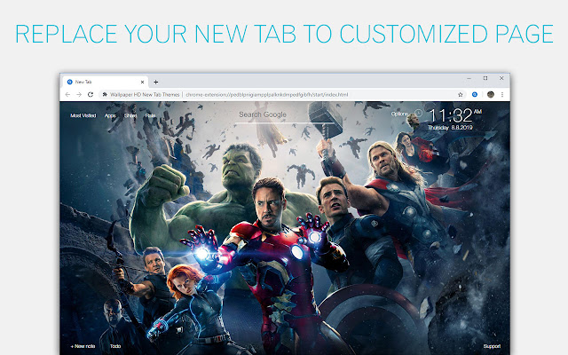 Marvel Comics Custom New Tab by freeaddon.com