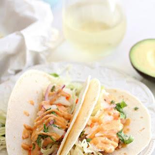 Delicious Cod Fish Tacos.