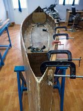 Photo: dry - fitting the port inner gunwales