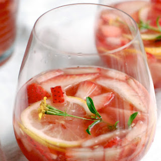 Sparkling Strawberry Rosé Sangria.