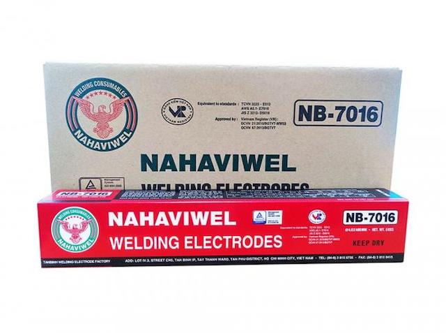 Que hàn điện nb-7016 sử dụng để hàn kết cấu thép dày