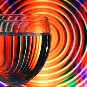 Around the glass by Ana Paula Filipe - Abstract Patterns ( abstract, water, patterns, color, glass )