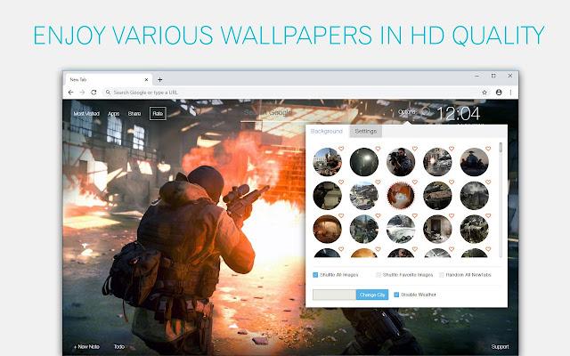 Call of Duty Modern Warfare Custom New Tab